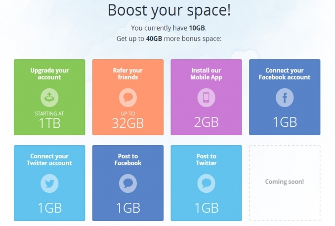 upgrade Mediafire +32GB Referral Bonus Permanent Space for $20