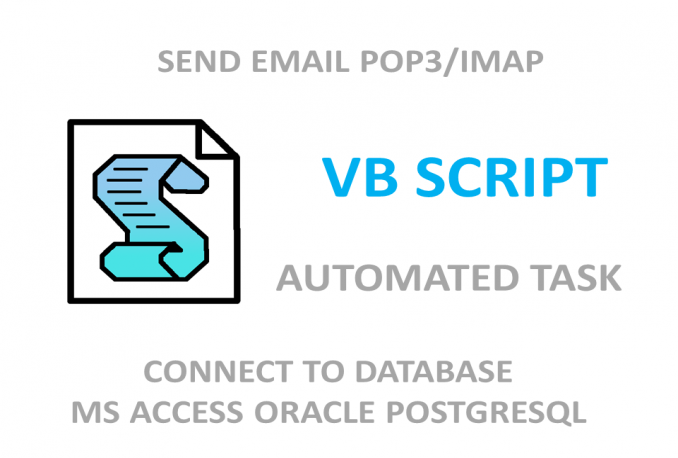 create vbscripts for automated task for