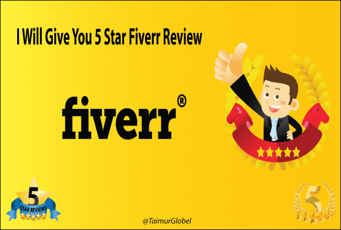 Buy any Fiverr Gig & Give 5Stars Reviews Only However i Only Buy Gigs That I Like for