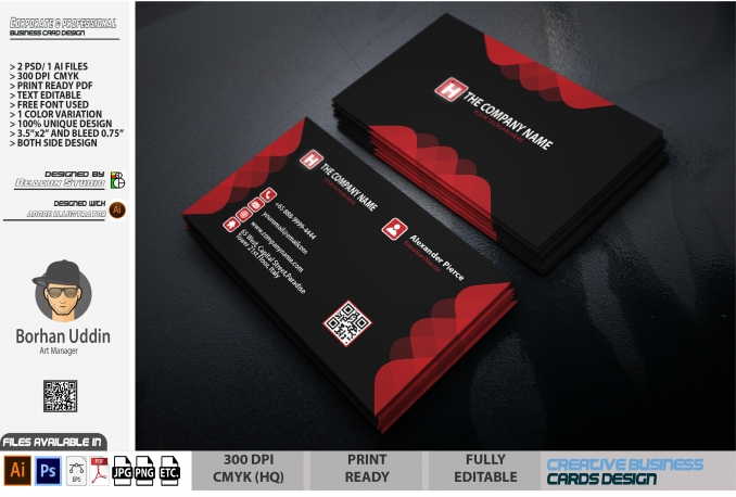 I will design professionally unique business card within 16 hours