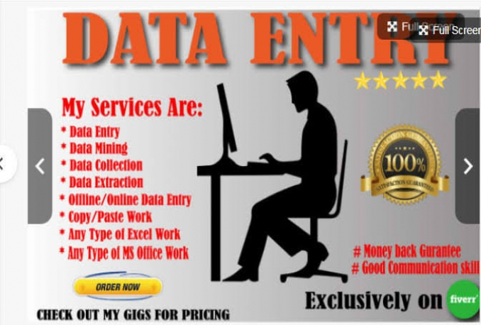 Do data entry services