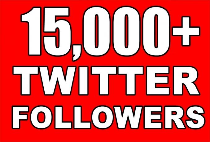 Gives you 15,000+Guaranteed NON Drop Followers.