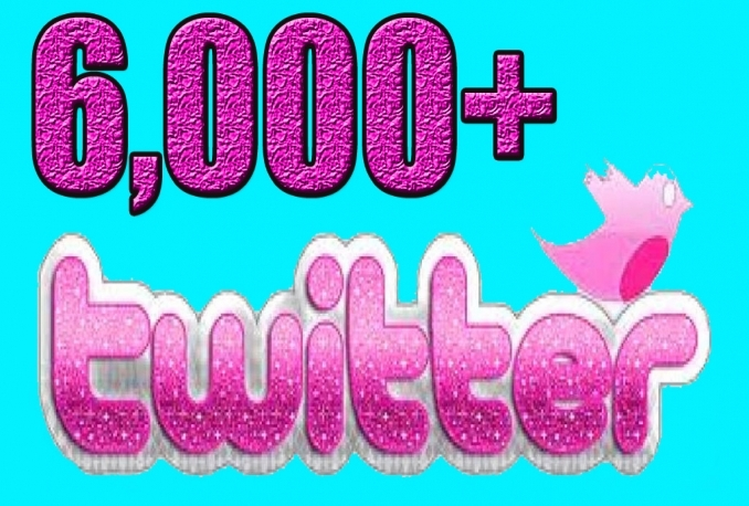 Provide you 6,000 Guaranteed Twitter Real Followers.