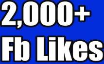 Send 2,000+Instantly started Guaranteed Facebook likes