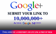 promote your link to 10,000,000 real social members