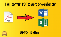 Convert PDF to Word upto 10 pages