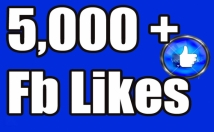 Gives you 5,000 Facebook likes Instantly and Guaranteed