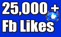 Gives you 25,000+Instantly started PERMANENT Active Facebook like