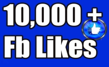 Send you 10,000+Instantly started Guaranteed Facebook likes