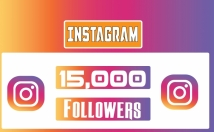Provide Instagram 15,000 Instant Fast Non Drop Followers